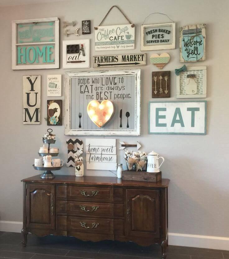 decoracion estilo farmhouse para paredes cocina interiores